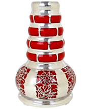 Silver Overlay Continental Glass Vase - $388.13 CAD
