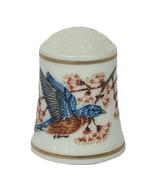 Franklin Mint Thimble Robin Hill Songbird World song bird figurine East ... - $17.37
