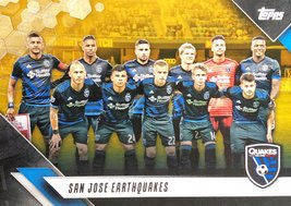 San Jose Earthquakes 2019 Topps MLS Card - Gold Parallel Numbered 42/50 - $8.99