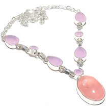 "Rose Quartz, Pink Jade Gemstone Jewelry Necklace 18"" RN100 - $9.99"