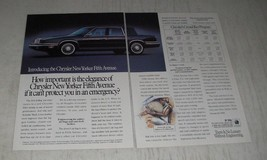 1990 Chrysler New Yorker Fifth Avenue Ad - How important is the elegance - $14.99