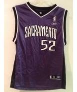 NBA Sacramento Kings Miller Purple Reebok 52 Basketball Jersey YM Medium... - $19.95