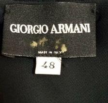 Giorgio Armani Women Black Silk Halter Blouse Top Size 48 Made in Italy image 4
