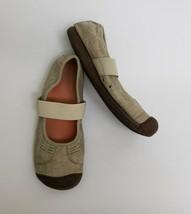 Keen Womens Shoes Flats Comfort Canvas Slip On Elastic Beige Size US 9 EU 39.5 - $54.40