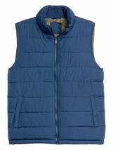 Gap Mens Night Blue Full Zip Warmest Puffer Vest Jacket Coat Small S 760... - $42.56