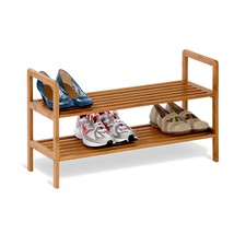 Shoe Storage, Bamboo Two-tiered Mens Womens Entryway Shoes Storage Organ... - $939,44 MXN