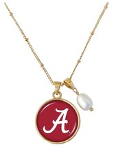 Alabama Crimson Tide Diana Gold and Pearl Saturn Style Necklace Jewelry ... - $16.82