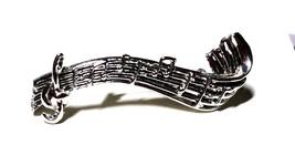 Musical Bar Vintage Silver Tone Pin - $21.59