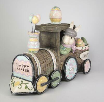 Primary image for Happy Easter Glitter Bunny Train Tabletop Decor