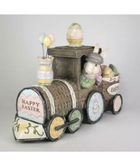 Happy Easter Glitter Bunny Train Tabletop Decor - $37.57