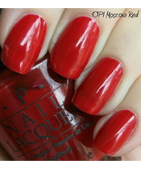 OPI **MOSCOW RED** Nail Polish Lacquer .5oz Black Label L75 ~Rare~ 1989 ... - $9.89