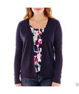 Liz Claiborne Long-Sleeve Shadow-Striped Cardigan Sweater Size L New Msr... - $16.99