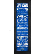 """Personalized Orlando Magic """"Family Cheer"""" 24 x 8 Framed Print - $39.95"""