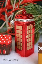 Pottery Barn Telephone Booth Ornament -NWT- Make The Call For Holiday Cool! - $24.95
