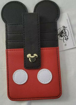 Disney Parks Mickey Mouse Icon Slim Wallet 4 Card Holder Vinyl Leather - $12.19