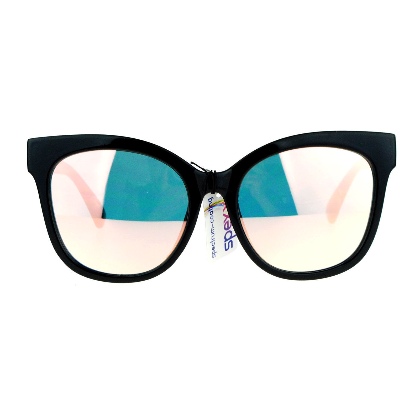 Womens Super Oversized Sunglasses Butterfly Frame Flat Mirror Lens