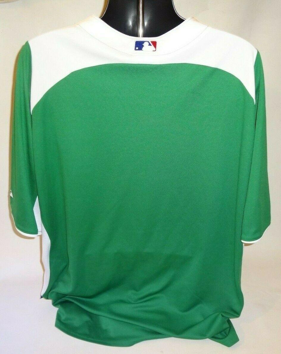 Philadelphia Phillies Jersey Green Majestic Men 2XL XXL MLB Baseball