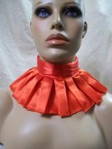 Red Clown Neck Ruffle Collar Renaissance Queen King Victorian Elizabetha... - $9.45