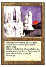 Magic: The Gathering 3rd Edition - Ivory Tower - $1.29