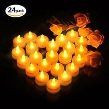 VicTsing Velas de LED Pequeñas con Efecto Llama, Velas (Blanco Cálido) - $20.16