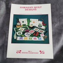 Hawaiian Quilt Designs for Counted Cross Stitch Elizabeth Root 15 Patter... - $17.74