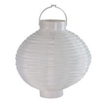 Sienna 3 B/O LED White Fabric Outdoor Garden Patio Chinese Lanterns 8IN - €19,11 EUR