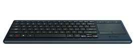 Logitech K830 Illuminated Wireless Keyboard Touchpad Internet Connected ... - $69.99