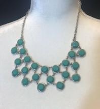 "statement necklace Liz Claiborne Blue 19.5"" - $19.75"