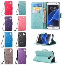 Wallet Diamond Leather Case Stand Cover for Samsung J5 J510 J3 J710 2016 J1 Mini - $7.99