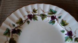 "Pair ROYAL WORCESTER Bone China BACCHANAL Grapes Vine 8"" Dessert Salad P... - $14.25"