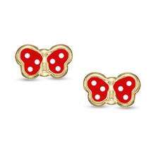 Baby/Children's Stylish 14K YG ScrewBack Butterfly Earrings Enamel White... - $32.85+