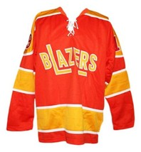 Any Name Number Philadelphia Blazers Retro Hockey Jersey Orange Any Size image 4