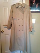 "London Fog ""Maincoats"" Womens Trench Coat Jacket Raincoat 12  Khaki - $12.19"