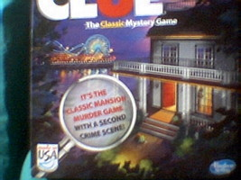 CLUE THE CLASSIC MANSION MURDER GAME WITH a Second Crime Scene - $10.00