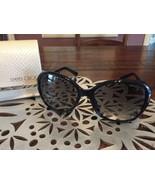100% AUTHENTIC and NEW Jimmy Choo Alana Crystal Sunglasses 0D28 Shiny Black - $163.35