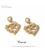 Yhpup® Earrings Vintage Metal Imitation Pearls Dangle Earrings Heart Geo... - $4.44