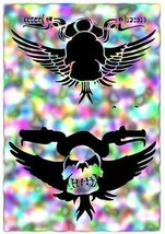 "NEW! 15""x12"" Stencil Skull Rider 02  Airbrush Stencil,Template - $14.01"