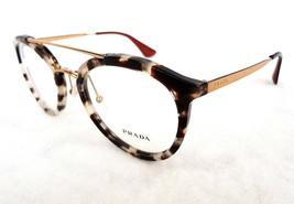 PRADA Women's Optical Frame PR15TV UAO-1O1 Gold/Havana 140 MADE IN ITALY... - $235.00
