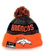 New Era Orange & Gray NFL Denver Broncos Knit Cuff Pom Beanie Men's One ... - $39.59