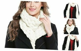 Women's Winter Soft Thick Twist Cable Knit Neck Warmer Long Scarf Shawl ... - $25.85
