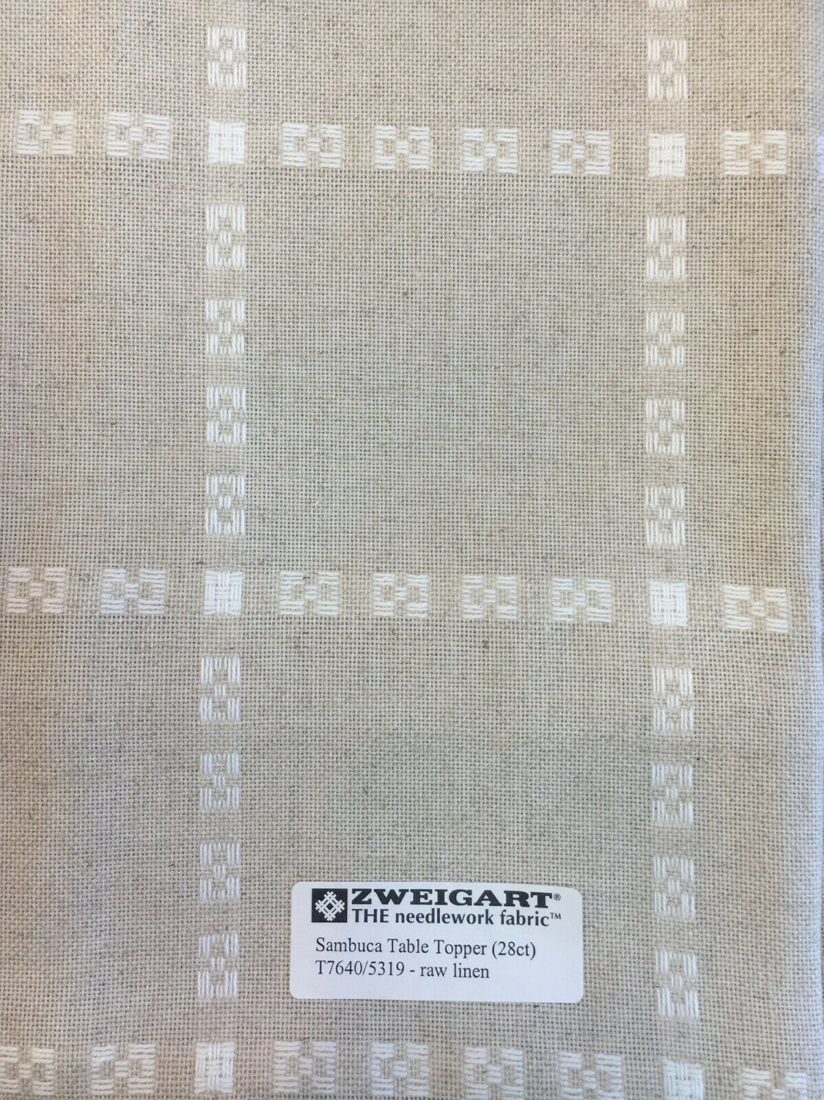 Primary image for Zweigart Sambuca Raw Linen 28 Count Cross Stitch Fabric Table Runner or Topper