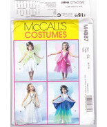 Pattern Costume Halloween McCalls 4887 Child Size 6 7 8 Fairy Dress Skir... - $3.99