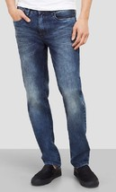 Kenneth Cole New York Straight-Fit Stretch Blasted Jean, Light Indigo,Size 28x30 - $34.64