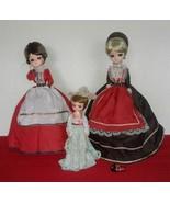 """Vtg Bradley Big Eye Doll Lot of 3 Dolls 16""""(2) and 9""""(1) - $40.00"""