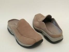 MERRELL Primo Seam Sand Comfort Mules-Moc Shoes Nubuck Tan Womens Size 7.5 - $49.45