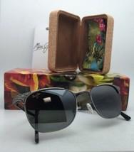 New Folding MAUI JIM Sunglasses STILLWATER 706-17C Pewter Frames Polarized Grey