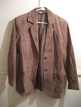 ST. JOHNS BAY womens suede leather jacket size small - €30,63 EUR