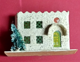 Vintage CHRISTMAS VILLAGE HOUSE Castle Train Yard PUTZ Japan Paper Mache... - $59.99