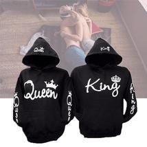 Winter Cotton Top Loose  Casual Hoodie Sweatshirt Men Women Lovers QUEEN KING Le