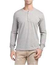 Diesel T-MELETIOS Henley Shirt, Light Grey, Size SMALL BNWT $78 - $34.75